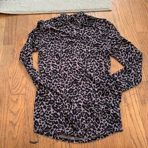 Free people animal print long sleeve top